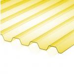 Поликарбонат профилированный (Кровельный) 1050х2000х0.8мм Желтый