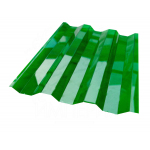 Поликарбонат профилированный (Кровельный) 1050х2000х0.8мм Зеленый