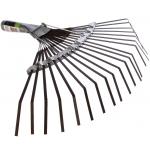 Грабли веерные 420 мм, б/черенка 26 плоских зубьев/Сибртех