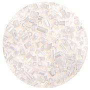 Бисер Тайвань рубка (уп. 10 г) 0121 белый перламутровый