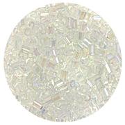 Бисер Тайвань рубка (уп. 10 г) 1161 белый радужный