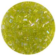 Бисер Тайвань рубка (уп. 10 г) 1164 салатовый радужный