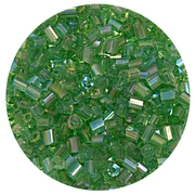 Бисер Тайвань рубка (уп. 10 г) 1167 зеленый радужный