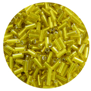 Бисер Тайвань стеклярус (уп. 10 г) 0030 желтый