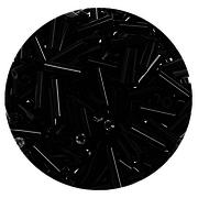 Бисер Тайвань стеклярус (уп. 10 г) 0049 черный