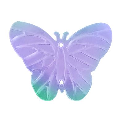 Пайетки «фигурки» Астра бабочка 23*18 мм (уп. 10 г) 23 сирен.-мята