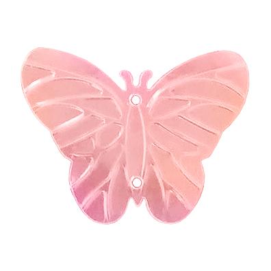 Пайетки «фигурки» Астра бабочка 23*18 мм (уп. 10 г) 30 розов.