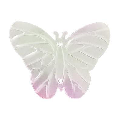 Пайетки «фигурки» Астра бабочка 23*18 мм (уп. 10 г) 319 бел.-сирен.