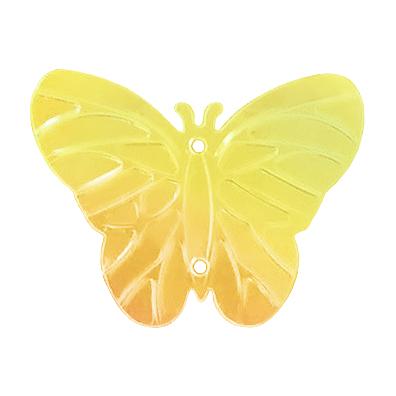 Пайетки «фигурки» Астра бабочка 23*18 мм (уп. 10 г) 91 желт.