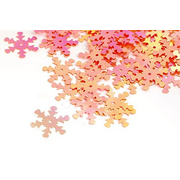 Пайетки «фигурки» Астра снежинки 25 мм (уп. 10 г) 30 розов.