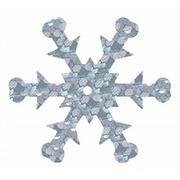 Пайетки «фигурки» Астра снежинки 25 мм (уп. 10 г) 50112 серебр.