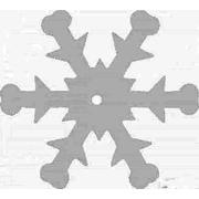 Пайетки «фигурки» Астра снежинки 25 мм (уп. 10 г) L010 мат.-бел.