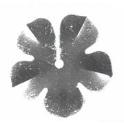 Пайетки «фигурки» Астра цветок 16 мм (уп. 10 г) 01 серебро