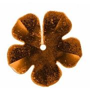 Пайетки «фигурки» Астра цветок 16 мм (уп. 10 г) 14 корич.