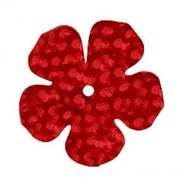 Пайетки «фигурки» Астра цветок 16 мм (уп. 10 г) 50103 т.-красн.