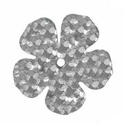Пайетки «фигурки» Астра цветок 16 мм (уп. 10 г) 50112 серебро голограмма