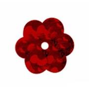 Пайетки «фигурки» Астра цветочки 10 мм (уп. 10 г) 50103 бордо