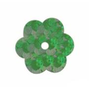 Пайетки «фигурки» Астра цветочки 10 мм (уп. 10 г) 50104 яр.-зел.