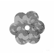 Пайетки «фигурки» Астра цветочки 10 мм (уп. 10 г) 50112 серебро