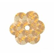 Пайетки «фигурки» Астра цветочки 10 мм (уп. 10 г) А-20 золото