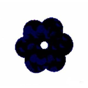 Пайетки «фигурки» Астра цветочки 10 мм (уп. 10 г) А-50 черн.