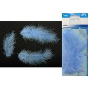 Перья марабу (уп. 15 шт.) синий