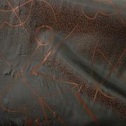 Ткань подкл. вискоза 48%; п/э 52%, №024 зеленый (коричн. абстракция)