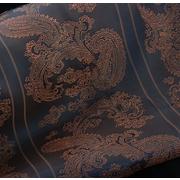 Ткань подкл. вискоза 48%; п/э 52%, №052 синий (медные огурцы)