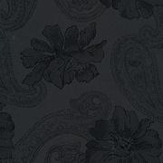 Ткань подкл. вискоза 48%; п/э 52%, №112 черный (огурцы+цветы)