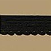 Резинка ажурная 12 мм Блитц DT-01 (уп. 25 м) черн.