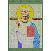 Ткань для вышивания бисером А3 КМИ-3354 «Св. Николай Чудотворец» 25*37 см