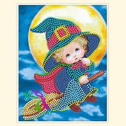 Рисунок на габардине А5 детские БИС 004 «Волшебница» 12*16 см