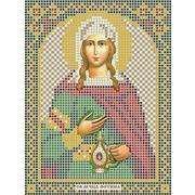 Рисунок на габардине А5 иконы БИС МК-047 «Св. Светлана (Фотина)» 12*16 см