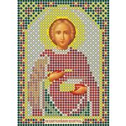 Рисунок на габардине А6 иконы БИС ММ 069 Целитель Пантелеймон 7,5*10,5 см