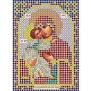 Рисунок на габардине А6 иконы БИС ММ 074 Пр.Бог. Владимирская 7,5*10,5 см