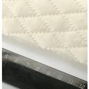 Стеганая подкладочная ткань термостежка 170Т мал. ромб №4 св.бежевый