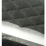 Стеганая подкладочная ткань термостежка 170Т мал. ромб №4 черный