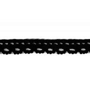 Тесьма вязаная 10 мм 1602-0016 хлопок (рул. 45,7 м) черн.