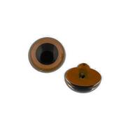 Глаза пришивные CRP-9 кристальные 9 мм коричневый