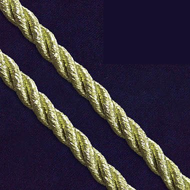 Шнур витой 5 мм (уп. 20 м) золото С