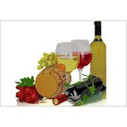 Ткань для вышивания бисером А3 КМЧ-3334 «Натюрморт с вином» 25*37 см