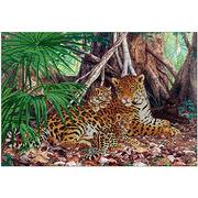 Ткань для вышивания бисером А3 КМЧ-3411 «Леопарды» 25*37 см