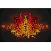 Ткань для вышивания бисером А3 КМЧ-3417 «Бабочка» 25*37 см