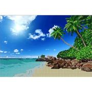 Ткань для вышивания бисером А3 КМЧ-3439 «Райский уголок» 25*37 см