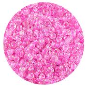Бисер Тайвань (уп. 10 г) 0205 розовый с цветным радужным центром
