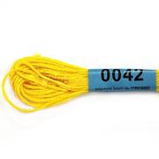 Мулине х/б 8 м Гамма, 0042 ярко-желтый