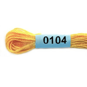 Мулине х/б 8 м Гамма, 0104 желтый