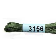 Мулине х/б 8 м Гамма, 3156 зеленый хаки