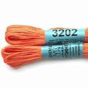 Мулине х/б 8 м Гамма, 3202 бл.-оранжевый