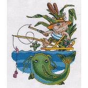Набор для вышивания Кларт 8-161 «Рыбак ловит сома» 23*28 см